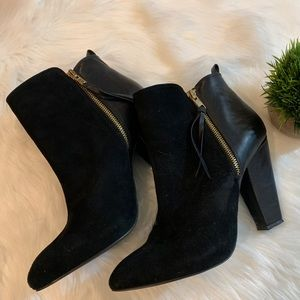 STEVE MADDEN JANNYCE BLACK SUEDE LEATHER BOOTS